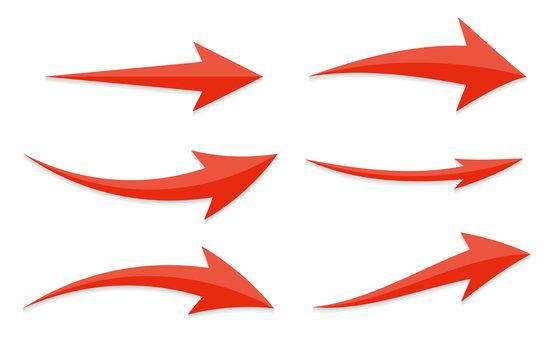 Arrow Icon Sign Set. Vector Illustration.