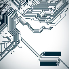 Circuit board background with a electronic pattern