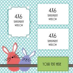 Easter or spring design template