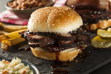 Smoked Barbecue Brisket Sandwich