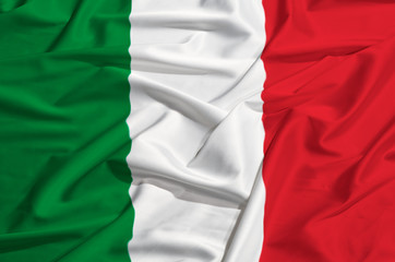 Italian national flag made of silk