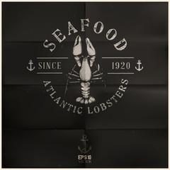 Vintage Atlantic Lobster Badge