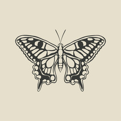 black butterfly machaon