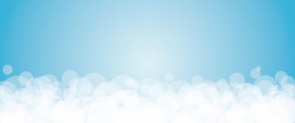Banner azzurro a bolle