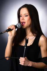 Attractive Brunette Female Musical Vocalist Karaoke Singer Audio
