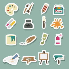 Art icons vector set
