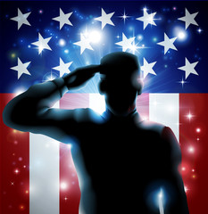 Aluminium Prints Superheroes Hero Soldier and Stars and Stripes