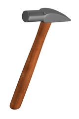 realistic 3d render of hammer