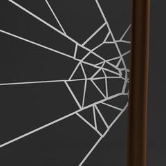 realistic 3d render of spiderweb