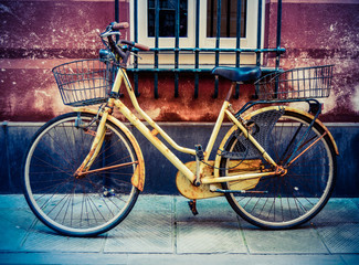 Printed roller blinds Bicycle Grungy Retro Bike