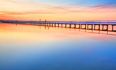 Foto op Canvas Australië Beautiful amazing sunset at Long Jetty Australia