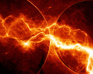 Abstract fiery lightning