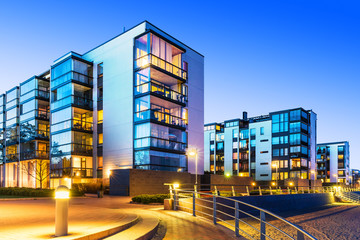 Modern real estate Fotomurales