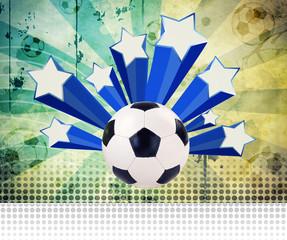 Fußball Retro Stars mit Textraum