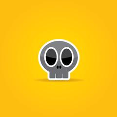 funny Skull vector illustration.