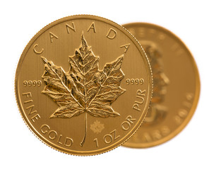 Canadian Gold Maple Leaf one ounce coin