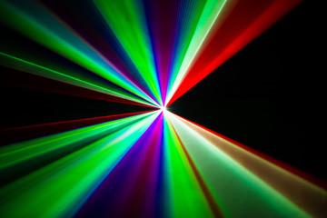 Colourful Laser beams