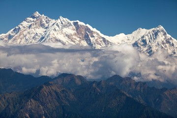 Wall Mural - Clouds around Annapurna