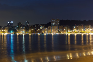 Night view Beach Icarai Niteroi