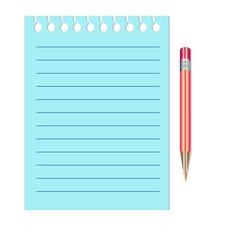 Note Paper with red pencil