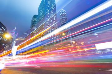 Fotomurales - traffic through downtown HongKong