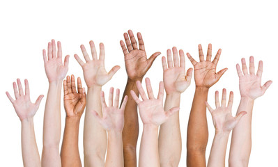 Group of People Hands Up