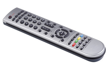 Digital TV and DVD remote control on an angle