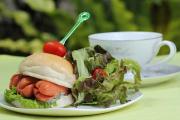 Fresh Burger with sausage