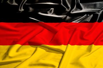 Germany flag on a silk drape
