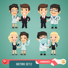 Doctors Cartoon Characters Set1.2