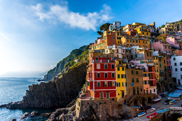 Colourful Houses in Cinque Terre, Italy