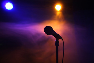 Microphone on stage