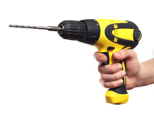 Hand holding power drill