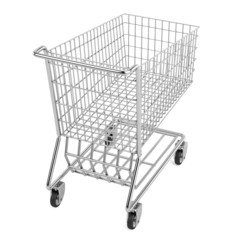 realistic 3d render of shopping cart