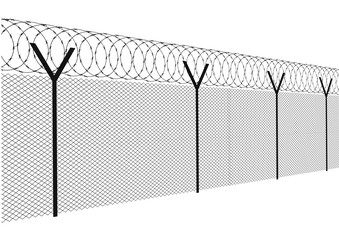 Modern fence on a white background vector