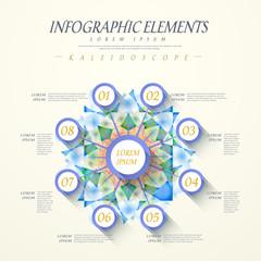 abstract kaleidoscope option infographics