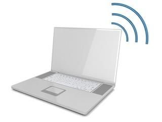 Laptop, wifi.