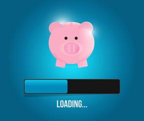 loading savings profits illustration design