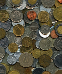 european and world coins background