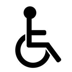Black handicap icon