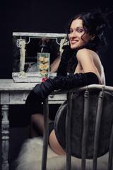 Beautiful theatre actress