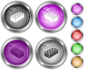 Hollow brick. Internet buttons.