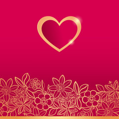 Valentines day greeting card. Vector