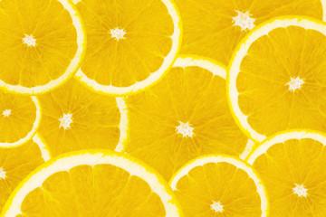 Many slices of orange fruit