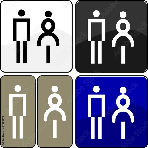 CARTELLO TARGA OMINI WC\