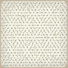 Polka dot background. Rhombus pattern. Vintage vector