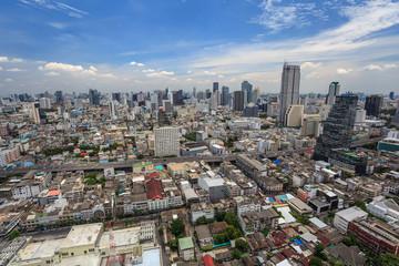 aerial view of Bangkok city skyline