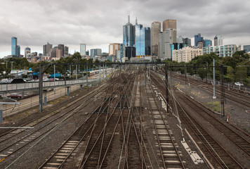 railway tracks in central Melbourne