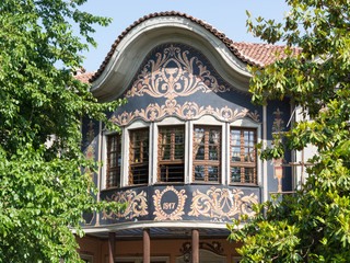 Typical architecture in the old town, Plovdiv, Bulgaria
