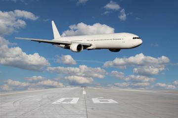Low pass of white plane
